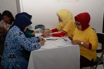 Kesehatan Kodiklat TNI AD Adakan Pemeriksaan Papsmear