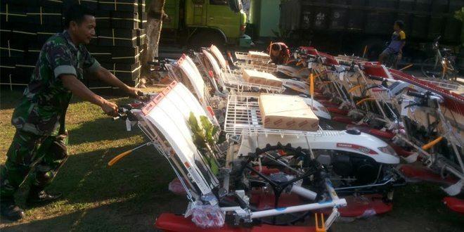 Kodim Bangkalan Terima 25 Unit Mesin, Permudah Petani Tanam Padi