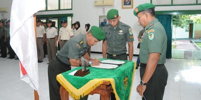 Danrem 063/SGJ Menyerahankan Tugas, Wewenang dan Tanggung Jawab Jabatan Kepala Staf Korem 063/SGJ