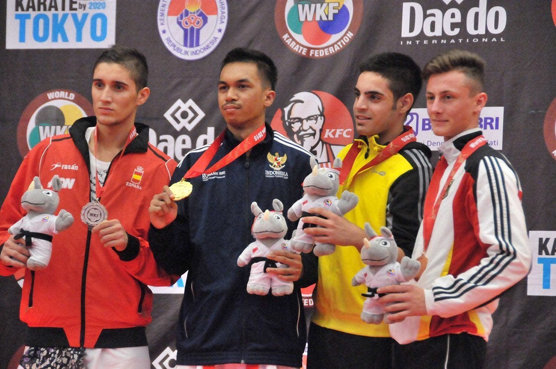Indonesia Kembali Raih Medali Emas Kejuaraan Karate Dunia