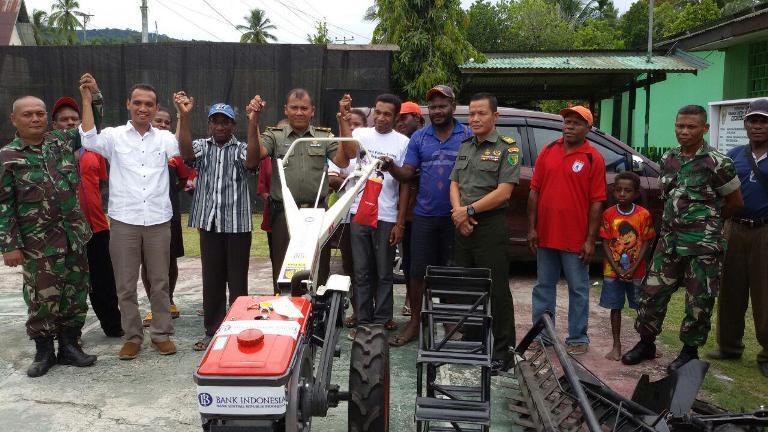 Kerjasama Kodim 1701/Jayapura Dan Bank Indonesia Papua Bantu Gapoktan