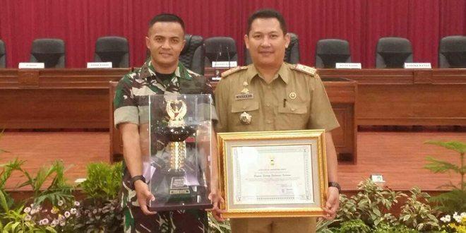 Kodim Sidrap Terima Penghargaan Lomba Binter TNI AD