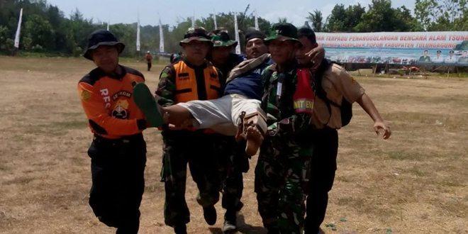 Kodim 0807 Tulungagung Gelar Latihan Penanggulangan Bencana Alam Gempa dan Tsunami
