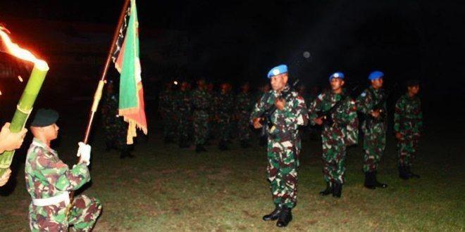 Upacara pelepasan Satgas UNIFIL dan Tontangkas Kodam XVII Cenderawasih