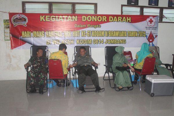 Peringati Hari Juang Kartika, Kodim Jombang Laksanakan Donor Darah