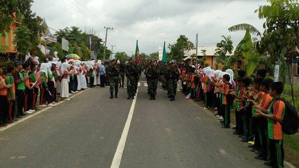 Peleton Beranting (Tonting) Yudha Wastu Pramukha Jaya (YWPJ) etape kelima diberangkatkan oleh Bupati Bojonegoro Suyoto