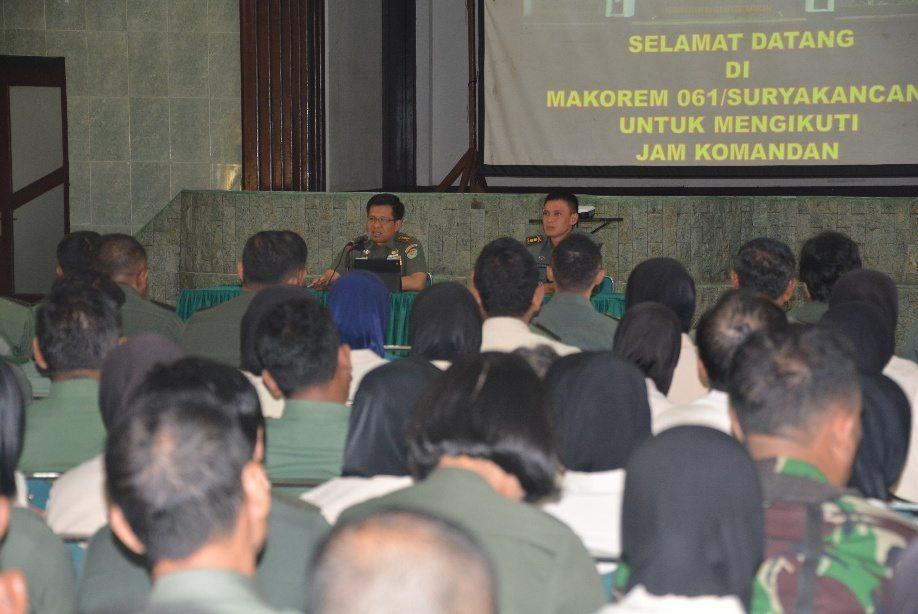 Arahan Danrem 061/Sk Kepada Jajarannya