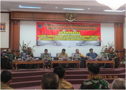 Kodim 0904/Tng Siap Amankan Pemilukada Serentak Kabupaten Paser
