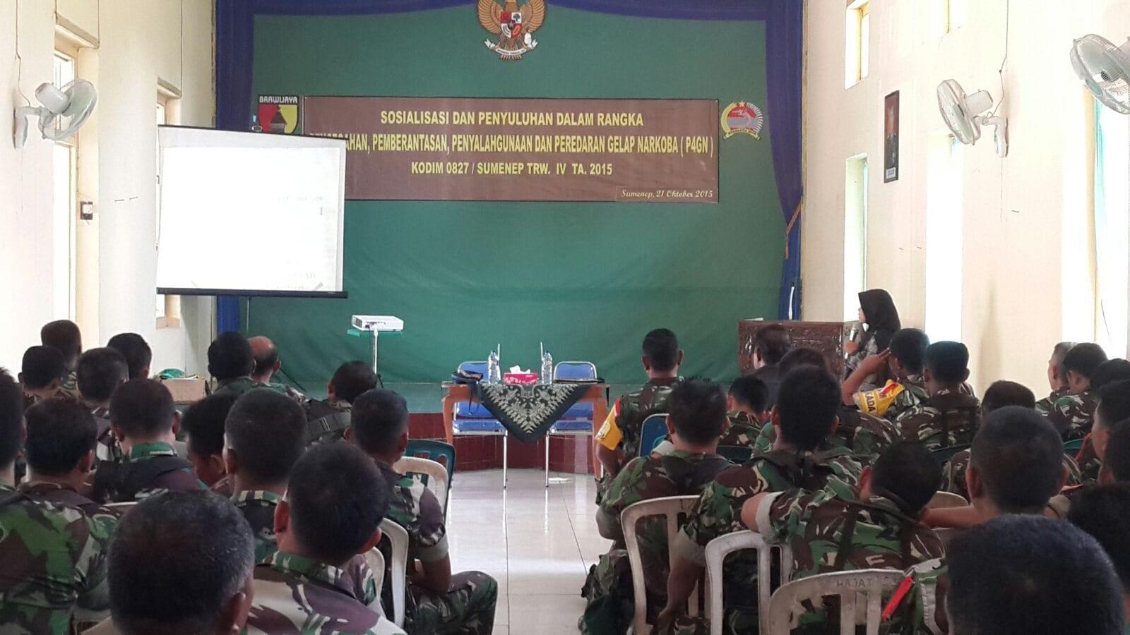 Cegah Anggota TNI Pakai Narkoba, Kodim Sumenep Gelar Sosialisasi P4GN