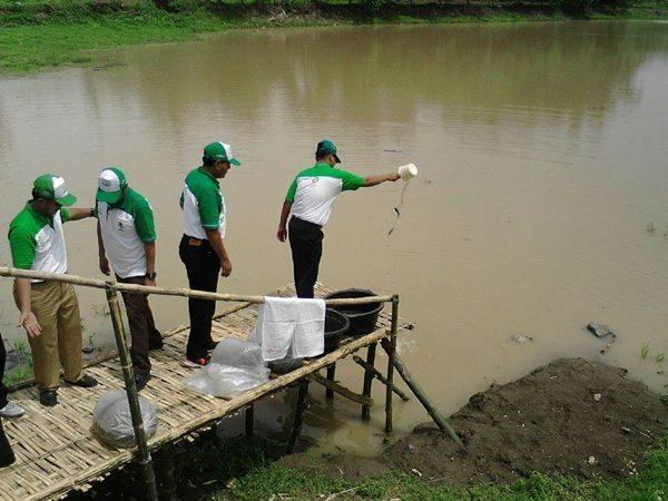 Koramil 0814/07 Kabuh Ajak Masyarakat Giat Menanam Pohon Dan Tebar Benih Ikan