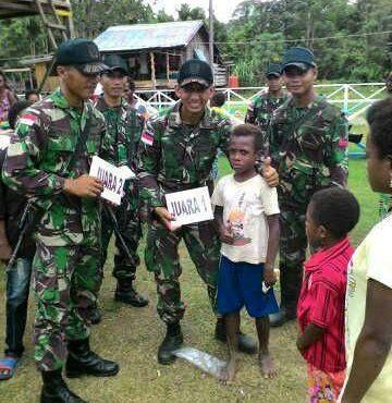Pos Yetti dan Pos Scopro Lama Satgas Pamtas RI-PNG Yonif Raider 411/P Kostrad Gelar Natal Bersama Masyarakat