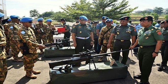 Gelar Perlengkapan Satgas Yonmek TNI Konga XXIII-J/Unifil