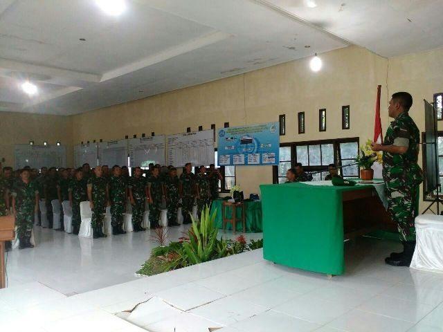 Kodim 0103/Aceh Utara Gelar Apel Danramil dan Babinsa