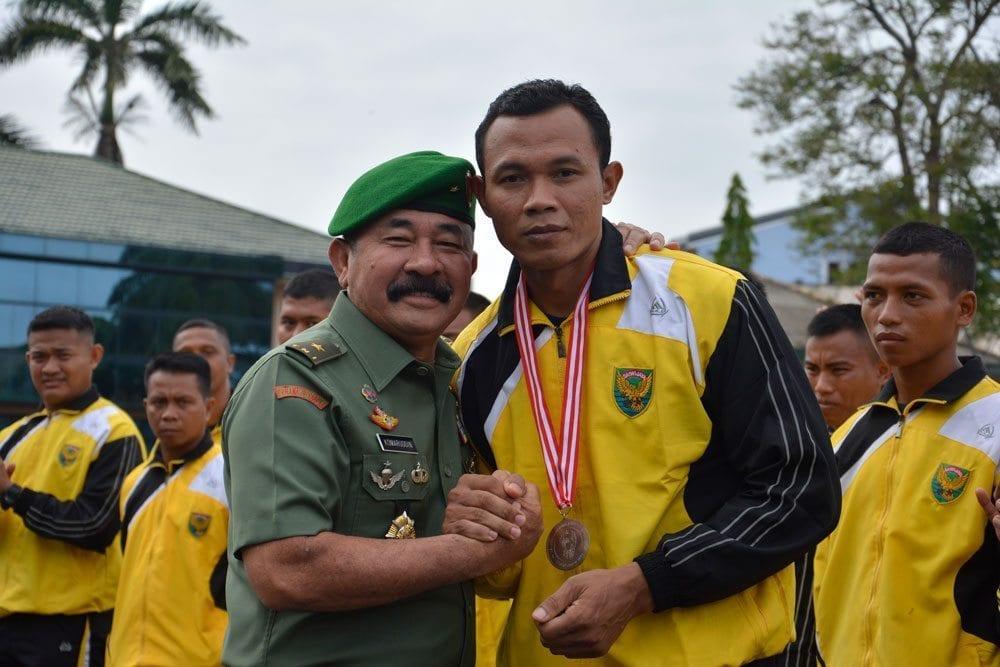Upacara Penyambutan Kontingen Yong Moodo Kodam II/Swj