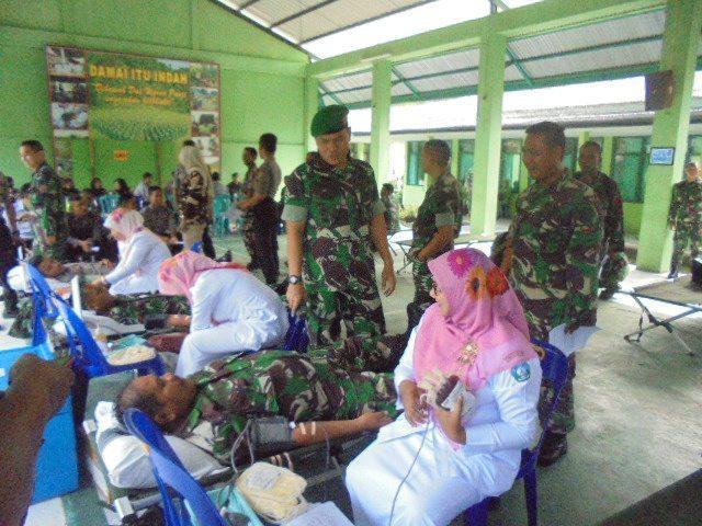 Peringati HJK dan HUT Kodam, Kodim 0107/Aceh Selatan Kumpulkan 82 Kantong Darah