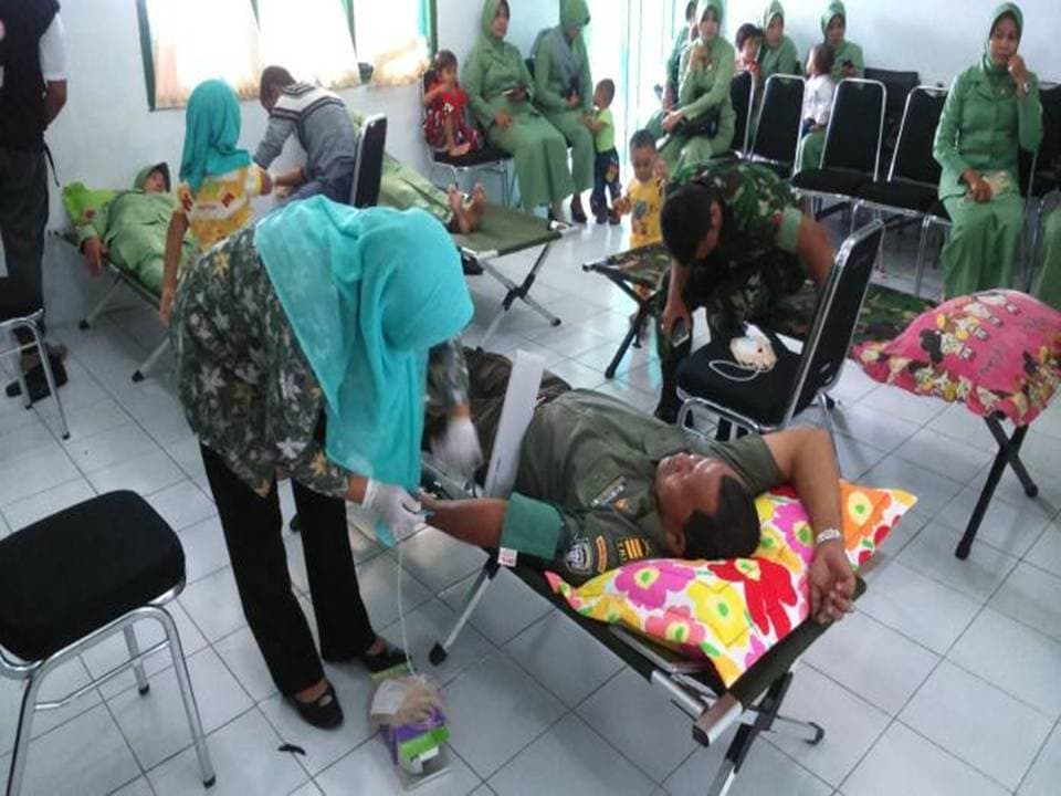 Kodim 0112 Sabang Sumbang 82 Kantong Darah