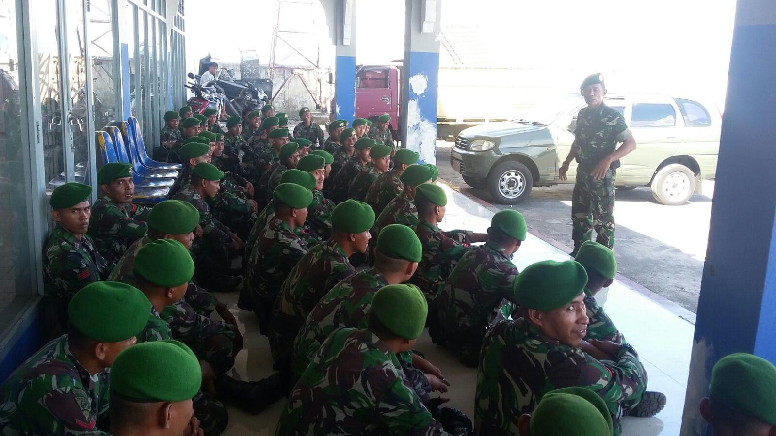 Korem Kirimkan Personel Back Up pengamanan di Taliabu dan Sula
