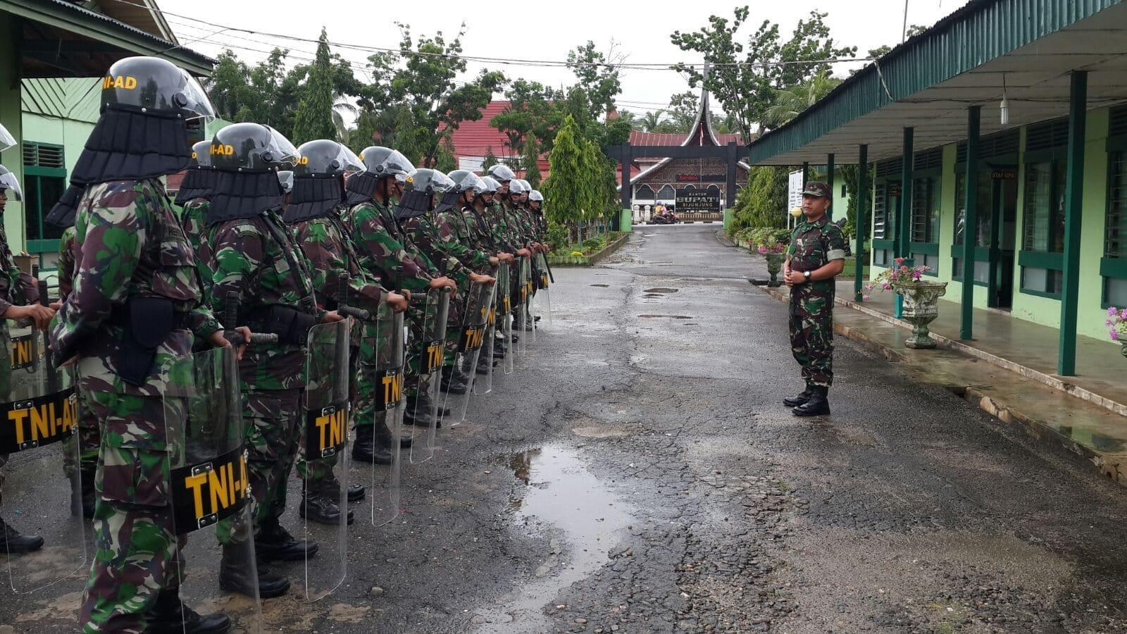 Kodim 0310/Ssd Insert Pasukan Pam Pilkada di Sejumlah Wilayah