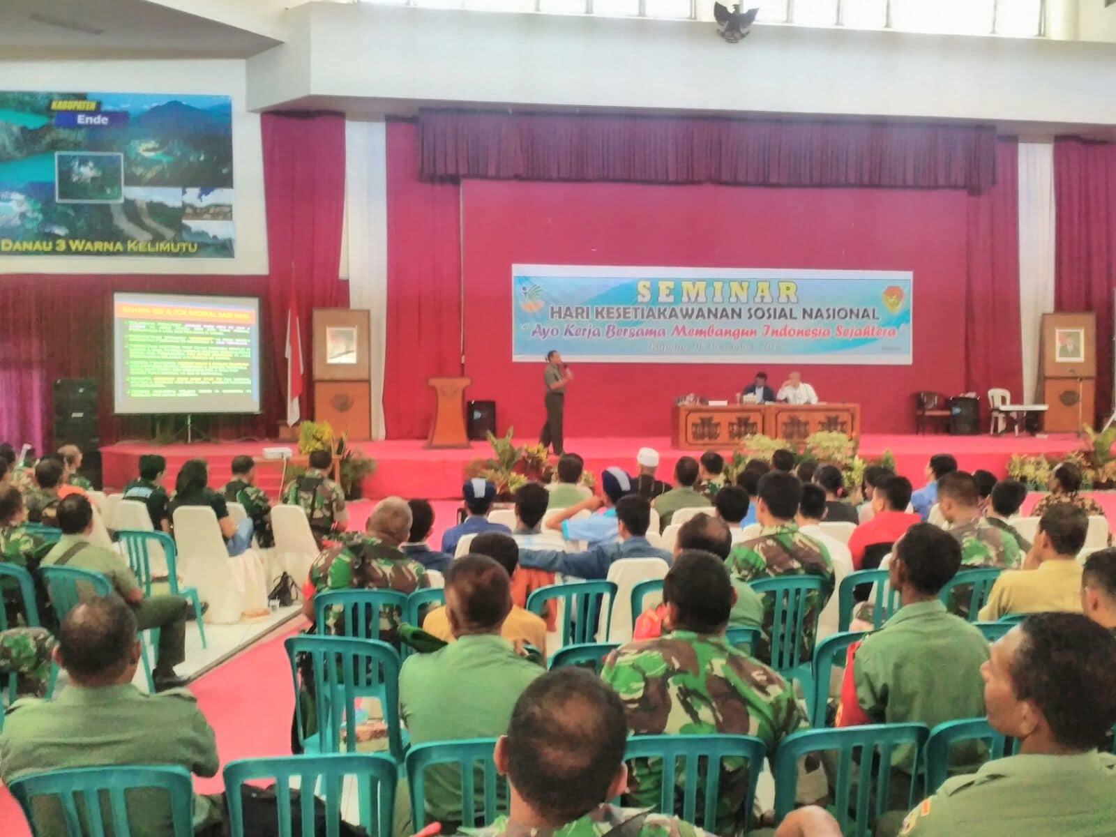 Danrem 161/WS Sebagai Pemateri Dalam Seminar HKSN