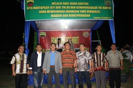 Korem 031/Wirabima Gelar Malam Panggung Prajurit Bersama Rakyat