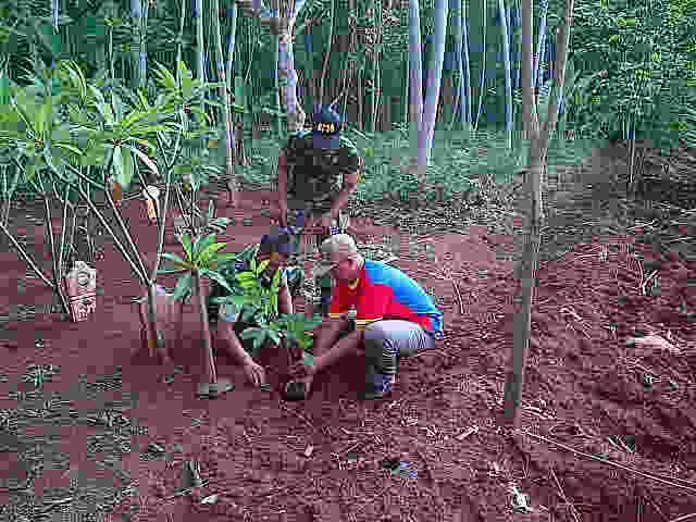 Koramil Laksanakan Penanaman Pohon Di TPU