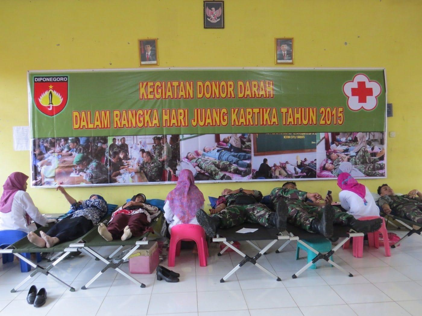Kodim 0713 Brebes Gelar Donor Darah Dalam Rangka Hari Juang Kartika 2015
