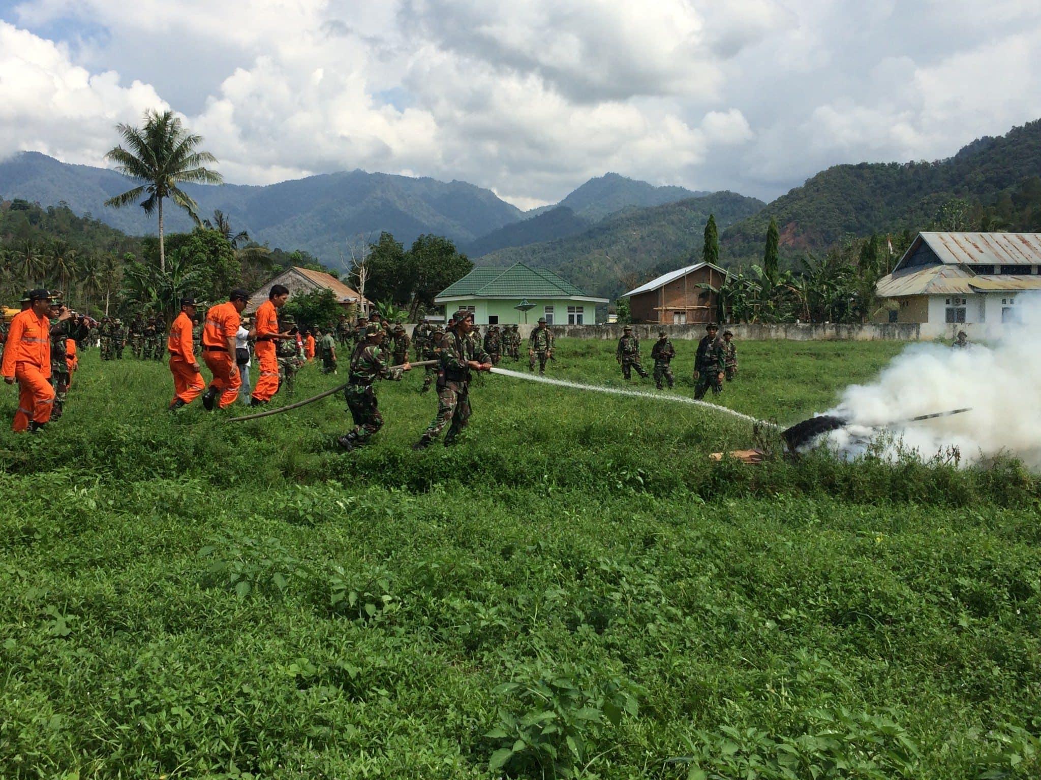 Penutupan Latihan Teknis Penanggulangan Bencana Alam di Wilayah Korem 142/Tatag TA. 2015