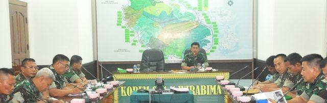 Kasrem 031/Wirabima Pimpin Rapat Persiapan Memperingati Hari Juang Kartika
