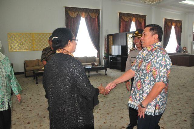 Danrem 031/Wirabima Sambut Kunjungan Menteri Pemberdayaan Perempuan ke Provinsi Riau
