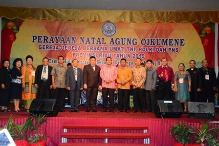 Natal Bersama TNI,Polri,PNS Dan Masyarakat Provinsi Riau
