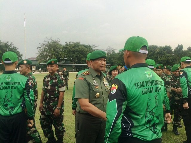 Pangdam Jaya Lepas Kontingen Yong Moo Do Kodam Jaya Untuk Bertarung Pada Piala Kasad V Tahun 2015