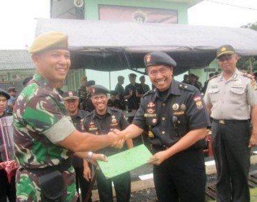 Senkom Kota Bekasi Peringati Hari Bela Negara di Markas YonArmed-7 105 GS Bantargebang