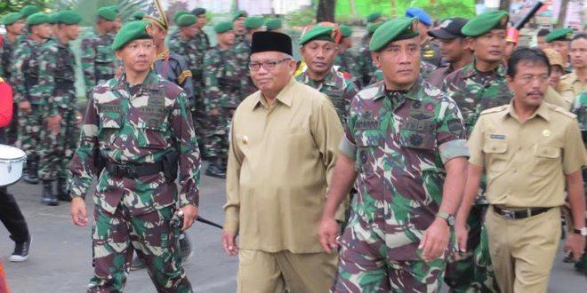 Gerak Jalan Peleton Beranting Adalah Cermin Prajurit Profesional, Modern Dan Militan