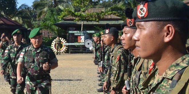 Patroli Gabungan Indonesia-Malaysia Satgas Pamtas Yonif 521/DY Dan MK 5 Briged Malaysia