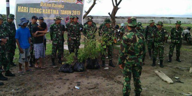 Peringati Hari Juang Kartika Tahun 2015, Kodim 1402/Polmas bersama Masyarakat Gelar Tanam Pohon