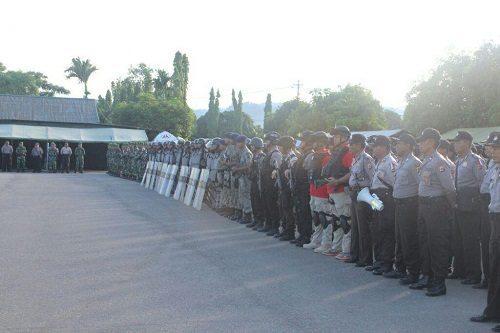 Angota TNI – Polri Se-Kabupaten Nabire Siap Mengamankan Pleno Pilkada
