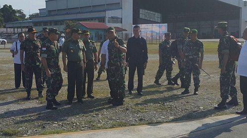 Panglima TNI Beserta Rombongan Tinjau Lokasi Yang Akan Dikunjungi Presiden