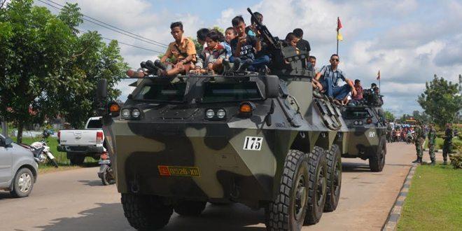 Kodam XII/Tpr Pamerkan Alutsista Dalam HUT TNI AD