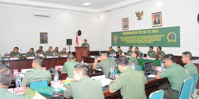 Kadispenad Secara Resmi Membuka Rakornispen TNI AD TA. 2015
