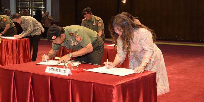 Mabes TNI Tandatangani Kontrak Pengadaan Barang Senilai 5,954 Triliun