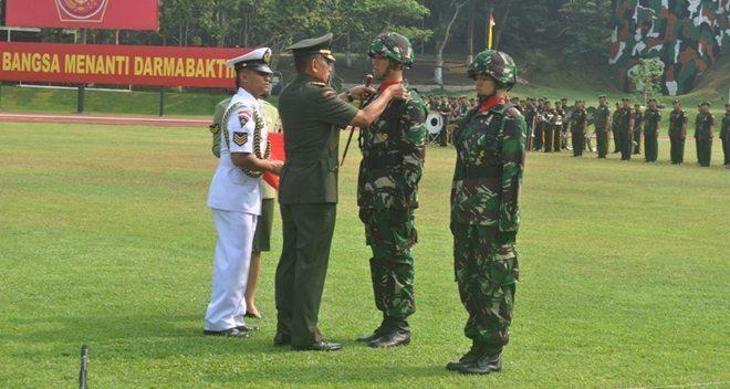Upacara Pembukaan Pendidikan Pertama Perwira Prajurit Karier