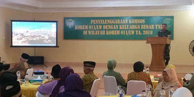Danrem 011/LW: Kemanunggalan TNI dan Rakyat Harus Ditingkatkan