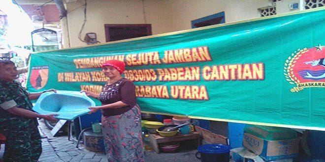 Kodim 0830/Surabaya Utara Lanjutkan Program Jamban untuk Warga
