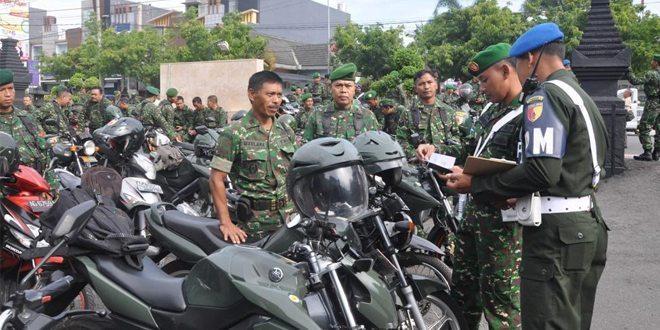 Denpom Blitar Cek Ranmor Anggota Kodim 0808/Blitar