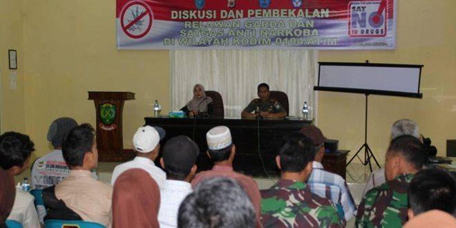 Kodim 0104/Atim Diskusi Pembentukan Relawan Anti Narkoba