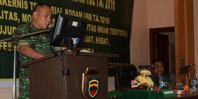 Pangdam I/BB Buka Rakernis Bidang Teritorial Tahun 2016