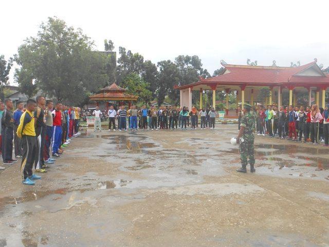 Bentuk Kedisiplinan, Koramil 03/Bangko Latih Satpol PP Kabupaten Rohil