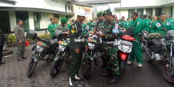 Kodim 0733/BS Semarang Gelar Pemeriksaan Kelengkapan Kendaraan