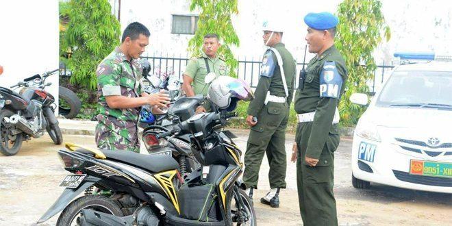Operasi Untuk Menegakkan Aturan Berlalu Lintas Prajurit TNI AD