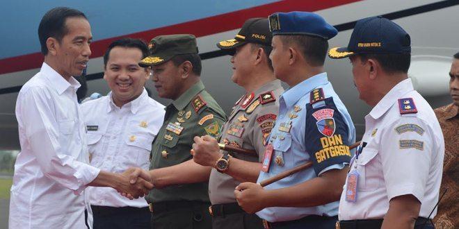 Korem 043/Gatam Amankan Kunjungan Kerja Presiden RI Ke Wilayah Lampung